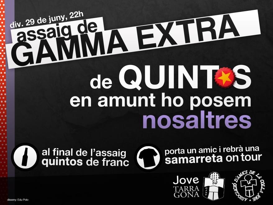 Cartell d'assaig de Gamma Extra